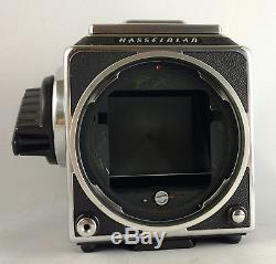 Hasselblad 501cm body with A12 back Acute Matte screen and waist level ex++