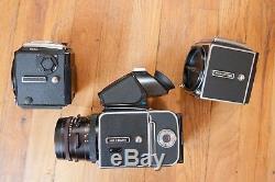 Hasselblad 503CW 500C 500CM 4x Lens 9x Film Back 2x Prism Winder Zeiss Lot +More
