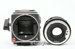Hasselblad 503CW, CFE 80mm lens. E12 + A24 Film Backs, Box, Lens Hood & Strap