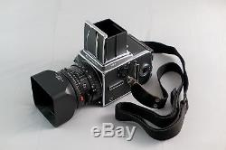Hasselblad 503CW camera + 80mm lens w filter & hood + A12 film back Great Cond