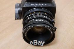 Hasselblad 503cx camera with Zeiss Planar T 2.8/80 lens & 2 film backs