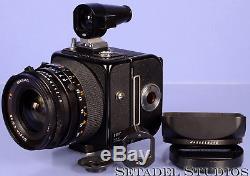 Hasselblad Swc/m Black 38mm Biogon Cf T Camera +a12 Film