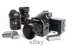 Leaf Aptus-II 10m, 56mp digital camera back with Mamiya 645 AFD + 80mm, 45mm, 150mm