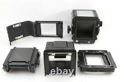 MAMIYA RB67 PRO + Sekor 127mm f/3.8 Lens + 120 Film Back + Waist Finder Japan 77