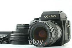 MINT 2LENS Contax 645 + Waist Level Finder + 80mm 45mm + 2 Film Back JAPAN