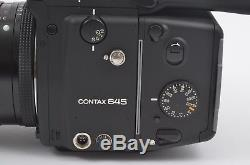 MINT BOXED CONTAX 645 AF MEDIUM FORMAT KIT with80mm f2, PRISM, BACK, INSERT, WOW