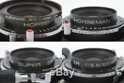 MINT HORSEMAN VH with SUPER ER 90mm F/5.6, 8EXP/120 6x9, Rotary Back From JAPAN