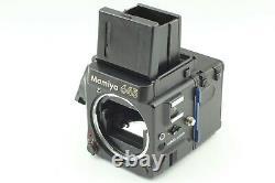MINT Lens &EXC+5 BodyMamiya M645 Super Waist Finder C 80mm F2.8 120 back JAPAN
