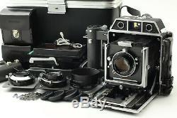 MINT TOPCON HORSEMAN 980 75mm 105mm 150mm Lens 120 Film Back x2 etc F/Japan