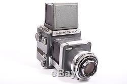 Makiflex SLR medium format kamera with Xenar f/4.5 210mm with rollfilm back