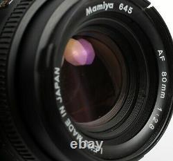 Mamiya 645AF 6X4.5 medium format camera with 80mm 120/220 back
