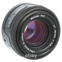 Mamiya 645AF with AF 80mm f2.8 Lens HM401 120/220 Film Back Magazine