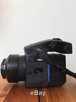 Mamiya 645 AFD Medium Format SLR Camera Body & 80mm 2.8 Lens & 1 Film Back