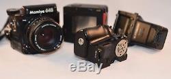 Mamiya 645 PRO-Prism Finder-80mm F/2.8-Lens-645 Film Back-645 Grip Winder