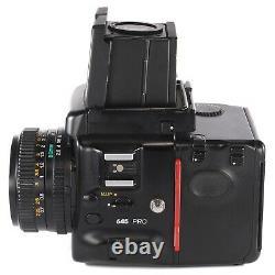 Mamiya 645 PRO with Sekor C 80mm 2.8 N 120 Film Back Waist Level Finder Crank