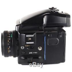Mamiya 645 PRO with Sekor C 80mm f2.8 +120 Film Back + AE Prism Finder + Crank