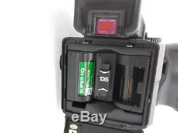 Mamiya 645 Pro Camera AE Metered Prism 80mm 2.8 Lens (2)120 Back (1) 35mm back