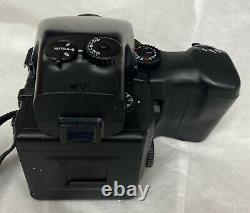Mamiya 645 Pro Kit with 55mm F/2.8 Prism Finder Grip 120mm Back CLEANED / TESTED