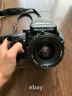 Mamiya 645 Pro TL + 55mm f2.8 A N/L + Prism Finder + Winder Grip + 120 Back