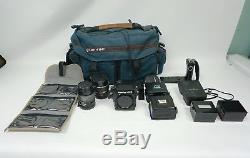 Mamiya 645 Super Medium Format Camera Kit with 2- Lenses, 3- film backs, Filters