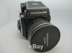 Mamiya M645 1000S + Sekor C 80mm F/1.9 Medium Format AE Prism Finder Film Back