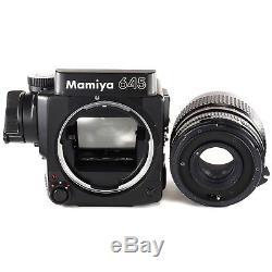 Mamiya M645 Super with Sekor C 45mm f2.8 120 Film Back Waist Level Finder Crank