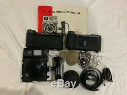 Mamiya Press Super 23 Camera with100mm 13.5 lens, 2 film backs and others Japan