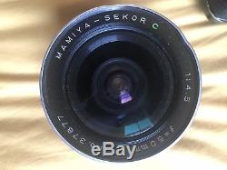 Mamiya RB67 PRO S + 90mm 3.8 lens, 50mm 4.5 Lens, 180mm 4.5 & Extra film back