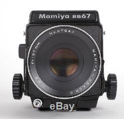 Mamiya RB67 Pro 6X7 Medium Format Camera with 127mm F3.8 lens 120 back WLF TESTED