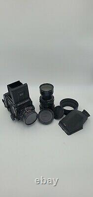 Mamiya RB67 Pro SD with 250mm Sekor 4.5 & 127mm Sekor C 3.5, 120 back, prism