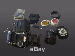 Mamiya RB67 Pro S Medium Format SLR Film Camera with 2 lenses and 2 backs