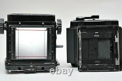 Mamiya RB67 Pro S Waist Level Viewfinder with 90mm F3.8 Lens SN124950 120 Back