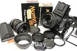 Mamiya RB67 Pro S lot with 2 lenses, 5 backs, prism finder and waist level finder