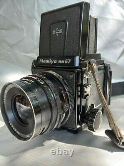 Mamiya RB67pro S with waist level finder, 120mm lens and 120 film back