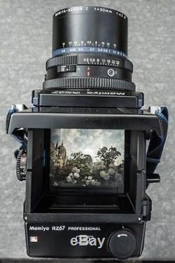 Mamiya RZ67 + 90mm + 180mm + 120 back. Medium Format Film Camera