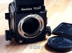 Mamiya RZ67 Pro II, Sekor Z 150mm f3.5 Lens, 120 Back, WL-Finder, Polaroid Back