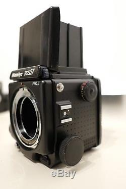 Mamiya RZ67 Pro ll, with Sekor 90mm and 150mm F3.5 lenses, + two 120 film backs