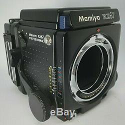Mamiya RZ67 pro with waist level finder, 120 film back & sekor Z 180 f4.5W-N Japan