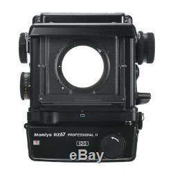 Mamiya Rz67 6x7 Pro II Medium Format Slr Film Camera +film Back Holder Kit 90d W