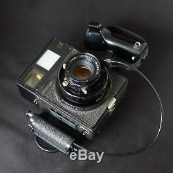 Mamiya Universal Medium Format Camera with 100mm f/3.5 Lens Cable Release Back