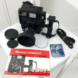 Mamiya Universal Press Film Camera 100mm f/3.5 lens Polaroid back Fuji fp-100c