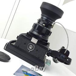 Mamiya Universal Press Film Camera 127mm f/4.7 P lens Polaroid back Fuji fp-100c