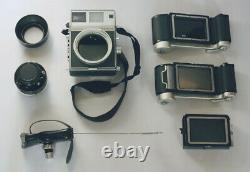 Mamiya Universal Press, with 6x9 + 6x7 Film backs, Lens, Carrying Case & More