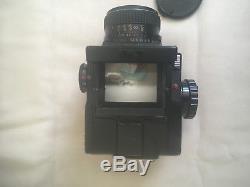 Mamiya m645 Single Lens Reflex, Medium format with 120 film back, f2.8 80mm lens