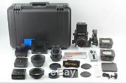 Mint Mamiya RZ67 Pro II + Z 110mm f2.8 + 180 4.5 W 120 220 Film Back JAPAN 318
