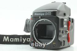 Mint withStrap Mamiya 645 Pro TL Body + AE Prizm Finder 120 Film Back From Japan