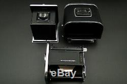 NEAR MINT+++Hasselblad 500 C with 80mm f/2.8 lens A12 Film back FROM JAPAN