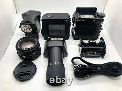NEAR MINT MAMIYA 645 Pro + AE Finder + SEKOR C 80mm f2.8 N +120Back from JAPAN