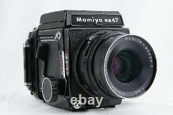 NEAR MINT MAMIYA RB67 Pro S + SEKOR C 90mm f/3.8 + 120Film Back from JAPAN