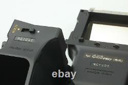 NEAR MINT Mamiya 645 Pro Body + AE Finder Winder Grip 120 Film Back From JAPAN